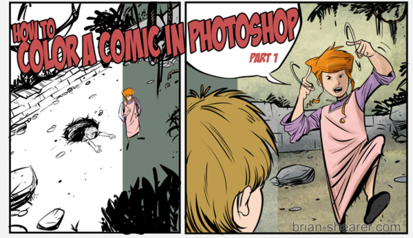 HOW TO COLOR A COMIC IN PHOTOSHOP - Pt. 1 SCANNING AN IMAGE AND SETTING UP LAYERS