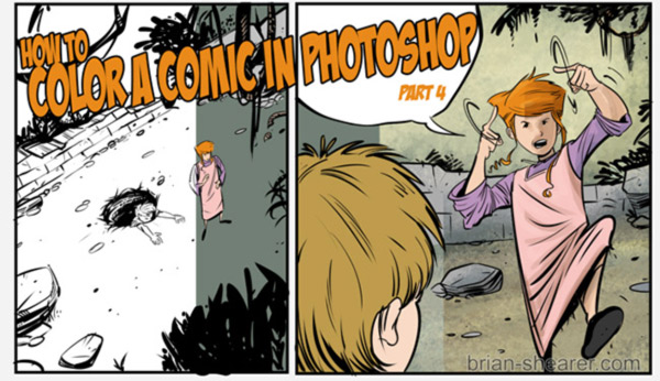 HOW TO COLOR A COMIC IN PHOTOSHOP - Pt. 4 COLOR AND TEXTURE OVERLAYS