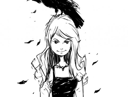 Sketches: Crow Girl and 50s Guy