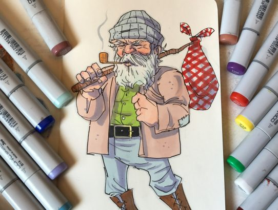 How I color a sketch with Copic Markers