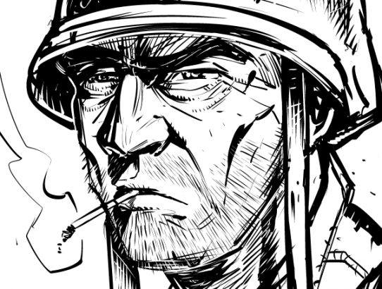 Warm Up Drawing: Sgt. Rock