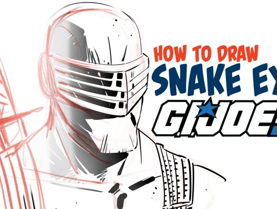 How to Draw Snake Eyes from GI Joe