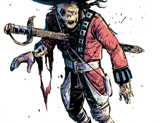 October Monsters: Red Coat Zombie