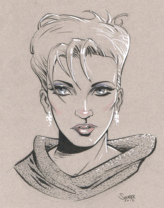 girl sketch canson